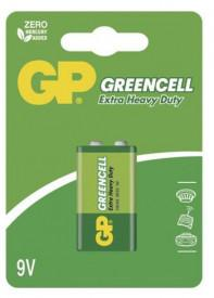 Baterie GP Greencell 6F22 (9V), 1 ks v blistru (9V)