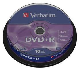 Verbatim DVD+R 4,7GB 16x, 10ks (DVD+R)
