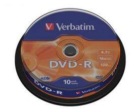 Verbatim DVD-R 4,7GB 16x, 10ks (DVD-R)
